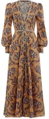 Zimmermann Castile Button Up Long Dress