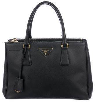 Prada Small Saffiano Lux Double Zip Galleria Tote