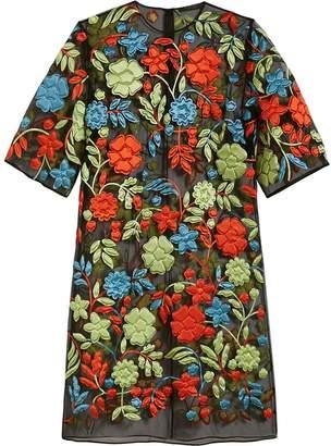 Burberry Silk-wrapped Foam Floral Appliqué Dress