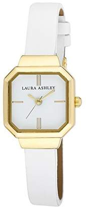 Laura Ashley Women's LA31004WT Analog Display Japanese Quartz White Watch $43.99 thestylecure.com