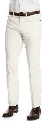 Incotex Ray Washed Moleskin Pants, Olive $325 thestylecure.com