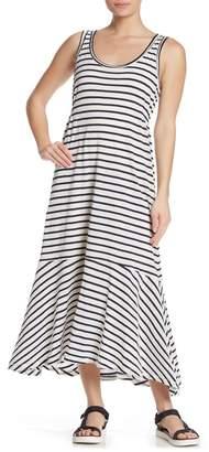 Splendid Striped High/Low Maxi Dress