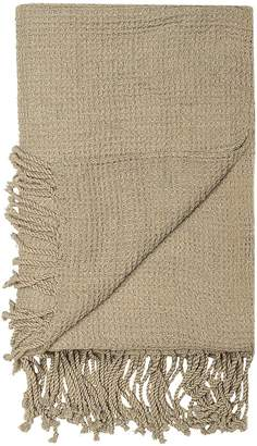 BEIGE Bloomingville Candace Knit Throw, Drap