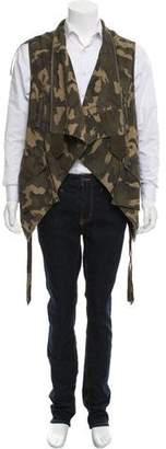 Faith Connexion Asymmetrical Camo Vest