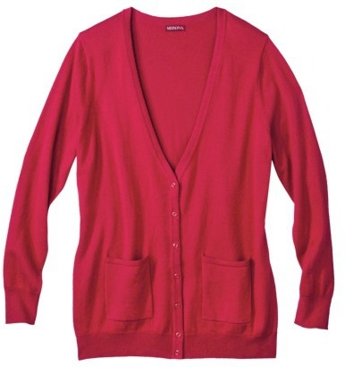 Merona Women's Plus-Size Cashmere Blend Cardigan Sweater w/Pockets - Assorted Colors