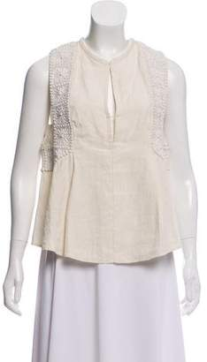 Isabel Marant Sleeveless Linen Top w/ Tags