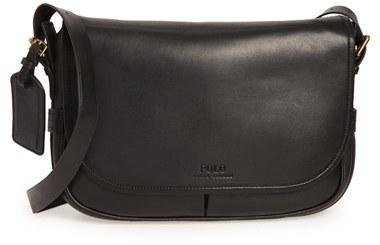 Polo Ralph LaurenMen's Polo Ralph Lauren Leather Messenger Bag - Black