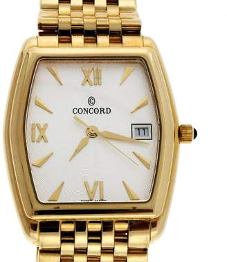 Concord 14K Yellow Gold Quartz 32.5mm Mens Watch
