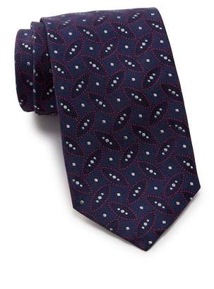 Thomas Pink Crome Geo Silk Tie