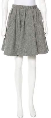 Acne Studios Flared Wool Skirt