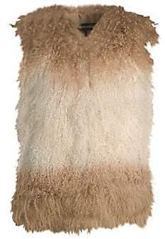 Adrienne Landau Women's Mongolian Fur Vest