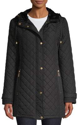 Weatherproof Quilted Hooded Faux Fur Lined Jacket