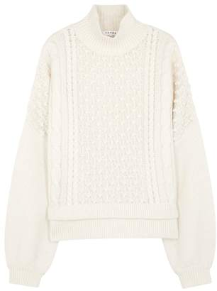 Frame Nubby Cable-knit Wool-blend Jumper