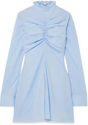 Marques Almeida Marques' Almeida Ruched Tencel Mini Dress - Sky blue
