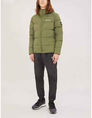 CK Calvin Klein Hooded shell-down puffer jacket