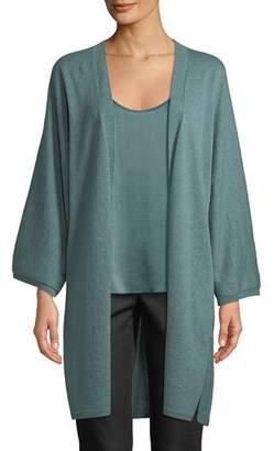 Eileen Fisher Italian Cashmere Long Kimono Cardigan, Plus Size