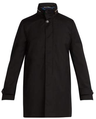 Paul Smith - High Neck Gilet Lined Wool Peacoat - Mens - Black