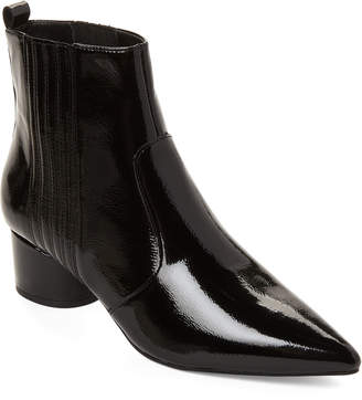 KENDALL + KYLIE Black Lalia Patent Leather Ankle Boots