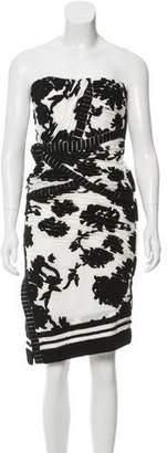 Balenciaga Textured Strapless Dress