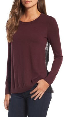 Women's Chelsea28 Tulle Back Sweater $89 thestylecure.com
