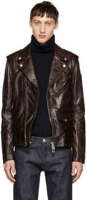 Belstaff Burgundy Leather Sidmouth Jacket