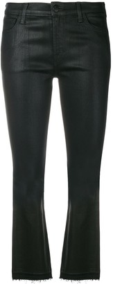 J Brand cropped coated jeans