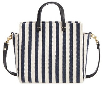 Clare V. Petit Simple Stripe Tote - Blue $295 thestylecure.com