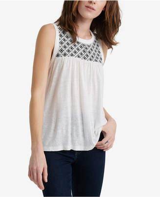 Lucky Brand Embroidered Sleeveless Top