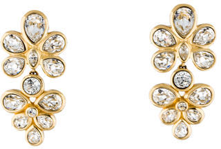 Christian Dior  Christian Dior Crystal Cluster Clip-On Earrings