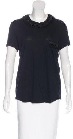 Chanel Embellished Wool T-Shirt