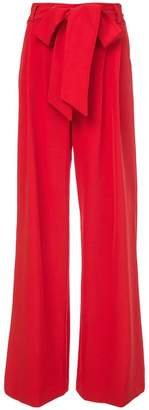 Milly belted wide leg trousers