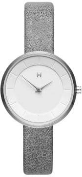 MVMT Mod M1 Stainless Steel Leather-Strap Watch