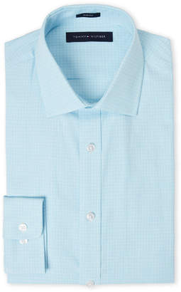 Tommy Hilfiger Opal Checked Slim Fit Dress Shirt
