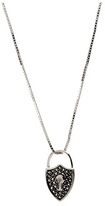Judith Jack 60273080 Reversible 16/18 Heart Pendant Necklace (Marcasite/Pink MOP) - Jewelry