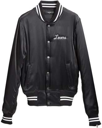 Amiri Lovers silk baseball jacket