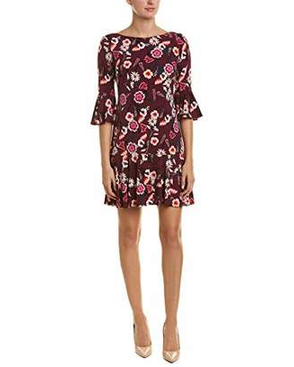 Eliza J Women's Floral Print Bell Sleeve Sheath Dress