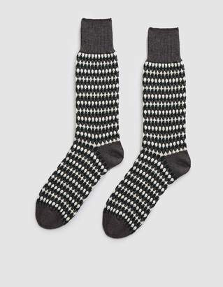 Nordic Chup Forest Knit Socks in Grey