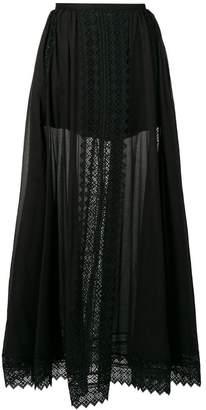 Charo Ruiz lace inserts maxi skirt