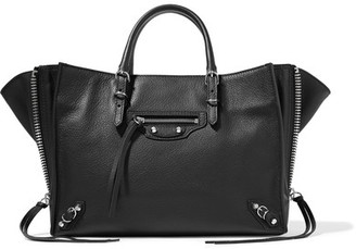 Balenciaga - Papier A6 Textured-leather Tote - Black $1,550 thestylecure.com