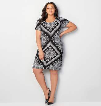 Avenue Scarf Print Sheath Dress