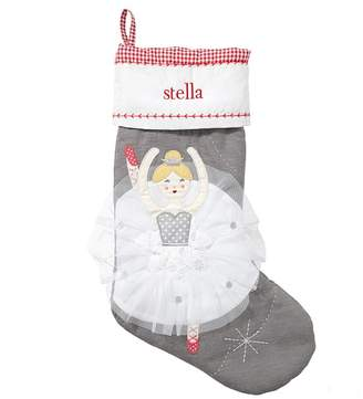 Pottery Barn Kids Blonde Ballerina Quilted Stocking