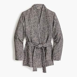 J.Crew Point Sur wrap jacket in Donegal tweed