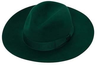 Amanda Wakeley Emerald Green Trilby Hat