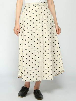 Pou Dou Dou (プー ドゥー ドゥー) - POU DOU DOU ドットプリントフロント釦スカート プードゥードゥー スカート