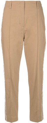 Schumacher Dorothee frayed cropped trousers