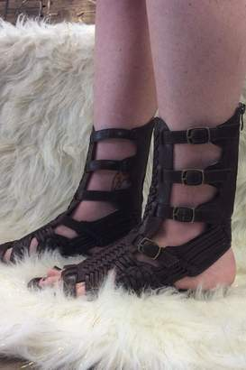 Avanti Brown Gladiator Sandals