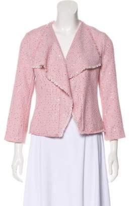 Karl Lagerfeld Embellished Tweed Jacket
