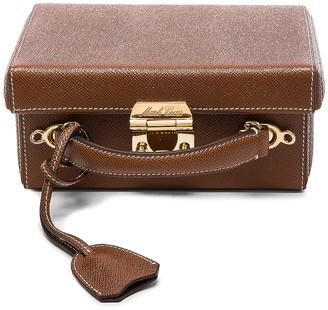 Mark Cross Small Saffiano Grace Box Bag in Acorn Saffiano   FWRD