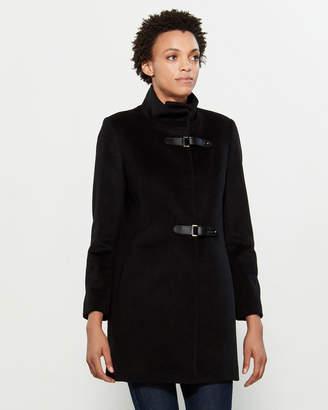 Lauren Ralph Lauren Buckle Closure Wool-Blend Coat