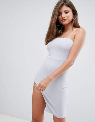 AX Paris bandeau mini dress with side split